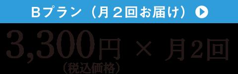 Bプラン 3,300円(税込) × 月2回
